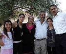 SDEROT, ISRAEL: president Barack Obama with the Ammar family July 23, 2008 . (Photo by Jack Guez-Pool/Getty Images)